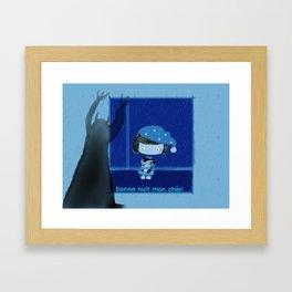 Bonne nuit mon cheri Framed Art Print