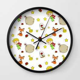 Prince From Alone Planet Wall Clock