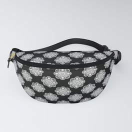 Floral Doily Pattern | Lace Crochet Doilies | Needle Crafts | Black and White | Fanny Pack