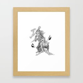 KungFu Zodiac - Horse and Goat Framed Art Print