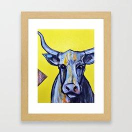 La Vache Framed Art Print