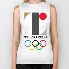 Tokyo Summer Olympics Games Mens and Youth Game soccer Biker Tank