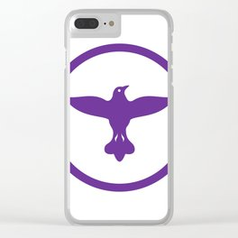 Dove Spreading Wings Circle Clear iPhone Case