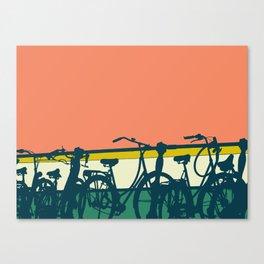 On your bike (Grapefruit) Canvas Print