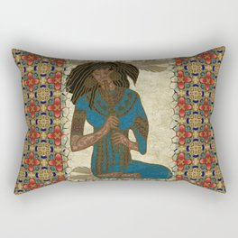 The Musician Egyptian Theban Folk Art Rectangular Pillow