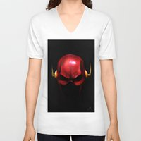 the flash V-neck T-shirts featuring Flash by Chuck Jackson