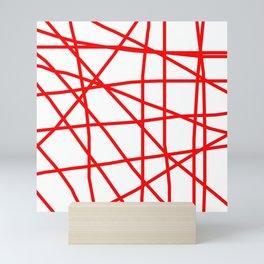 Doodle (Red & White) Mini Art Print