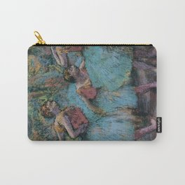 Edgar Degas - Three Dancers (Blue Tutus, Red Bodices) Carry-All Pouch