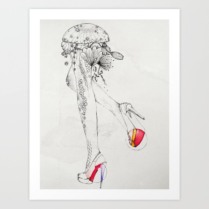 flora feet Art Print