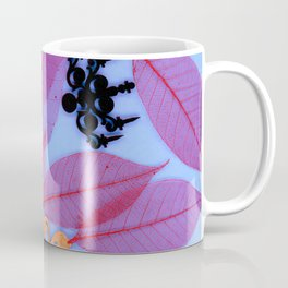 RED LEAVES w/ FILIGREE Coffee Mug