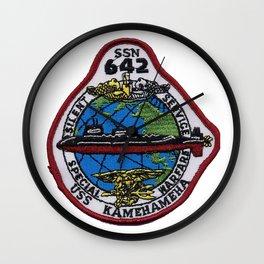 USS KAMEHAMEHA (SSN-642) PATCH Wall Clock