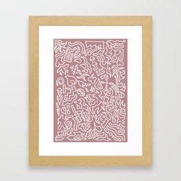 Pink with a splash of grey Framed Art Print