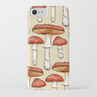 mushrooms iPhone & iPod Cases featuring Mushrooms by CHAR ODEN
