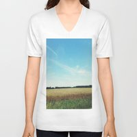 alabama V-neck T-shirts featuring alabama wheat. by Lauren Fobes