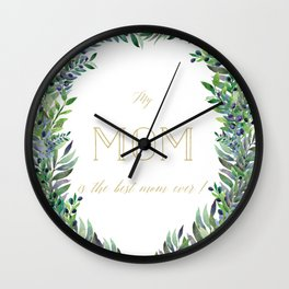 Garland for Mom-Gild Typgraphy Wall Clock