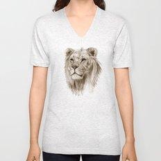 A Lion :: Without Pride Unisex V-Neck