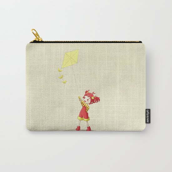 Girl with Kite Carry-All Pouch