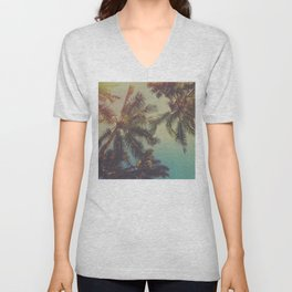 Tropical Palms Unisex V-Neck