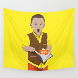 Thought Provoking Kid Wall Tapestry
