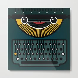 typewriter Metal Print