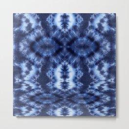 Topanga Tie-Dye Blue Metal Print