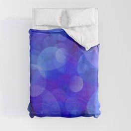 Violet Blue Bubbles Comforters