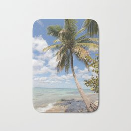Isla Saona - Palm Tree at the Beach Bath Mat