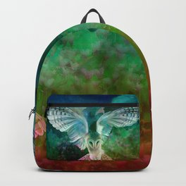 """Owl flight and spring night"" Backpack"