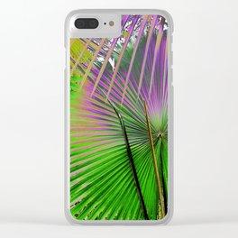 palm leaf design Clear iPhone Case