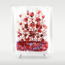 Floral Charm No.1E by Kathy Morton Stanion Shower Curtain