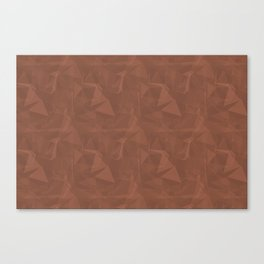 Abstract Polygon Sherwin Williams' Color of the Year for 2019, Canyon Clay Cubism Triangle 1 Canvas Print