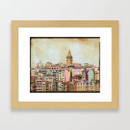 Istanbul city Turkey Framed Art Print