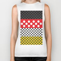 minnie Biker Tanks featuring Minnie by AmadeuxArt