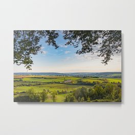 View over the hills in Limburg, The Netherlands Metal Print