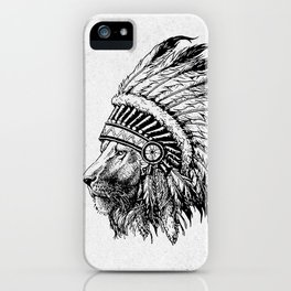 Lion Tribal iPhone Case