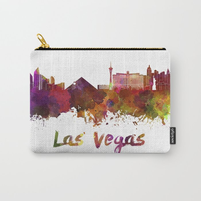 Las Vegas skyline in watercolor Carry-All Pouch