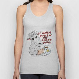 Warm Coffee & Hairy Women Unisex Tank Top