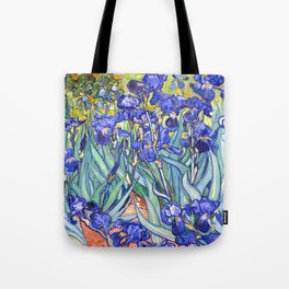 Vincent Van Gogh Irises Tote Bag
