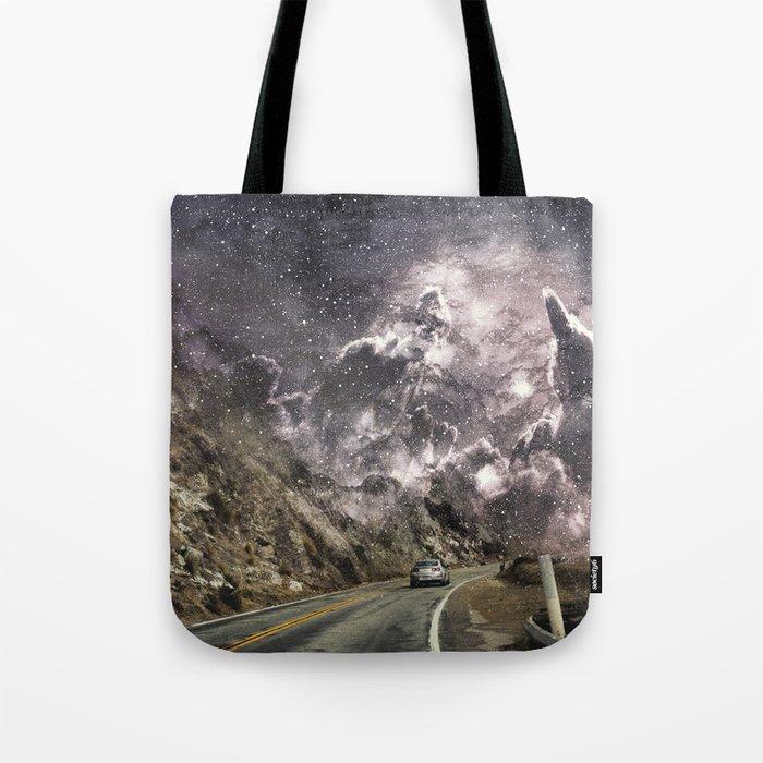 Space gazing Highway One Tote Bag