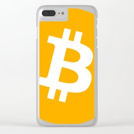 Bitcoin Logo Clear iPhone Case