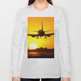 Beautiful 737 Sunset Long Sleeve T-shirt