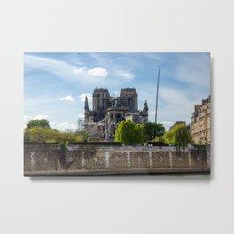Notre Dame de Paris after the fire Metal Print