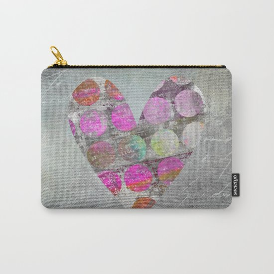 Passion  mixed media heart art Carry-All Pouch