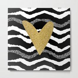 Heart on waves Metal Print