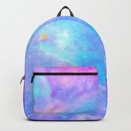Orion nebulA : Bright Pink & Aqua Backpack