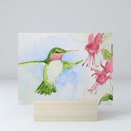 Hummingbird and Fuchsia Mini Art Print