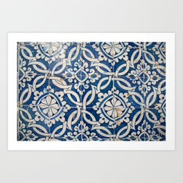 Vintage portuguese azulejo Art Print