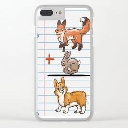 Corgi Math Clear iPhone Case