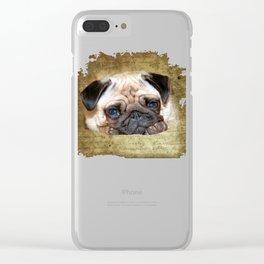 Pug Clear iPhone Case
