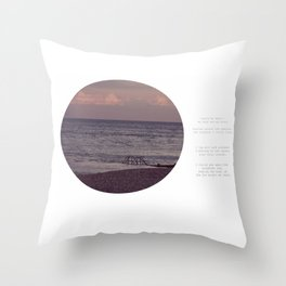 Laying by Water Throw Pillow